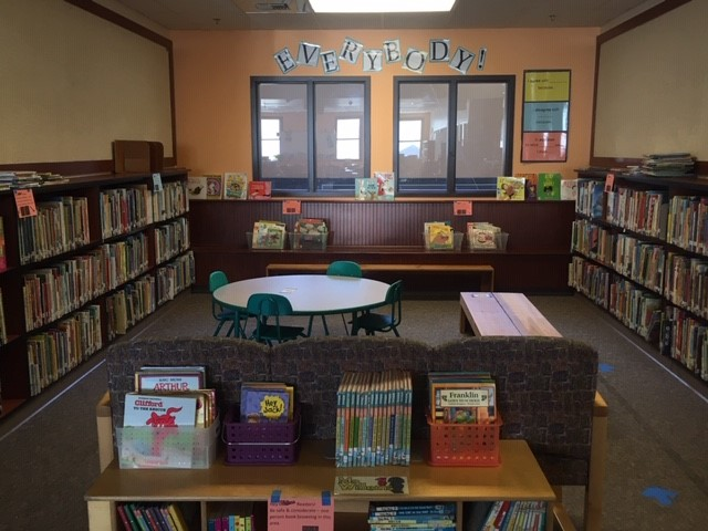picture of everybody book section in library